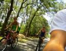 Biking the Hawthorne Trail.