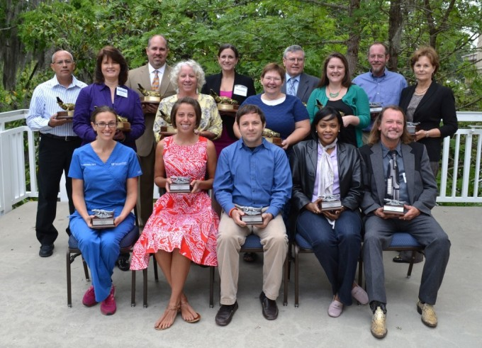 Front (left to right): Danielle Jonas, Alex Avelino, Bruce Floyd II, name not available, Donald Epperson Back (left to right): Hector Solis, Katye Avery, Jeffrey Citty, Joyce Jones, Tanja Philhower, Donna Rowland, Stanley Beckerdite, Samantha Evans, Michael Frick, Patti Breedlove, (winner not pictured Steve Coates)