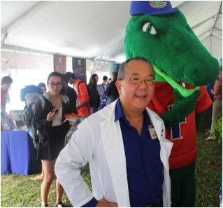 Dr. Lampotang and Albert the Alligator