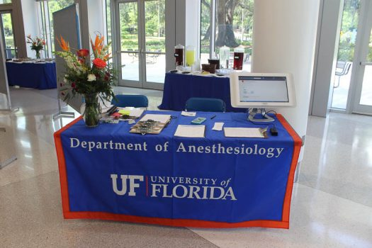 Welcome table to The Department of Anesthesiology's Celebration of Research