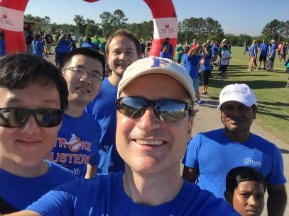 Dr. Dore and team at the 2016 Heart Walk