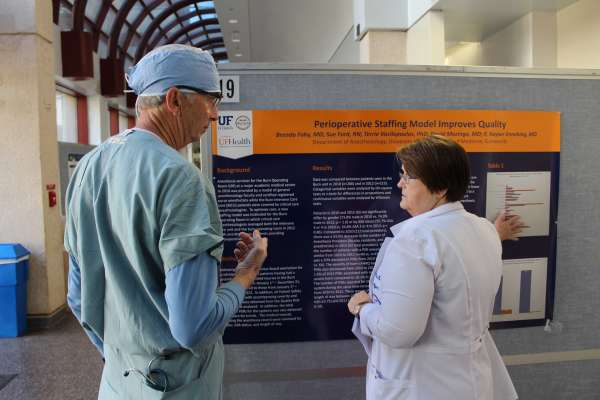 Dr. Gravenstein and Sue Ford at Clinical Quality and Patient Safety Research Day