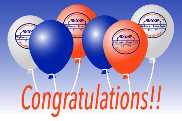 Congratulatory ballons