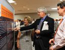 Dr. Tim Morey viewing a poster