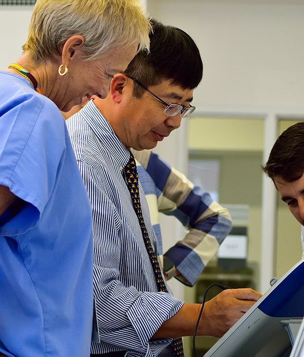 Dr. Peng at the Perioperative Cardiac Imaging and Devices workshop