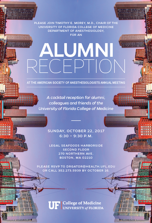 2017 Alumni Reception invitation