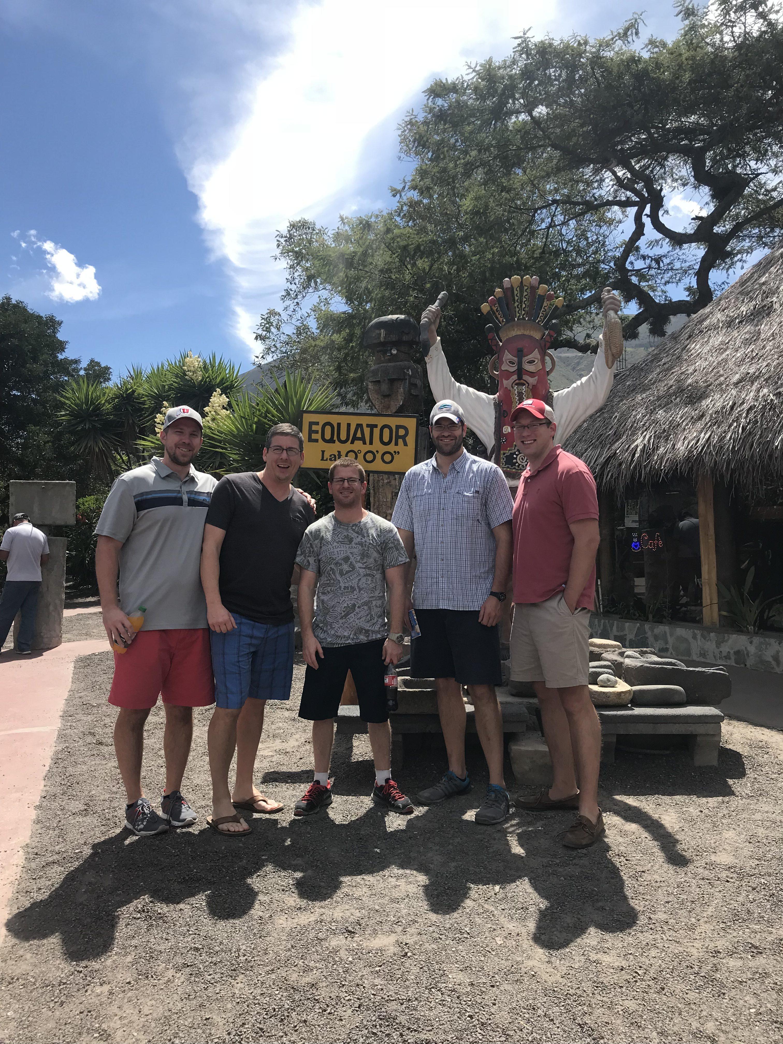 Team at the Equator