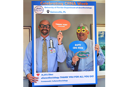 Scott Sumner and Dr. Morey celebrating CRNA week