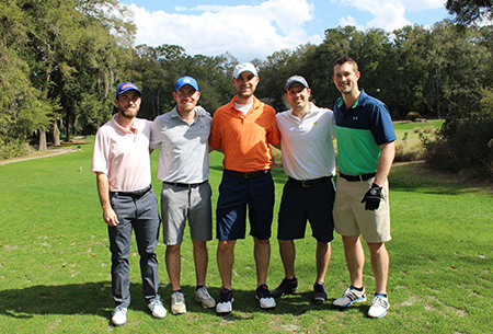 Residents participating in the 2018 golf tournament