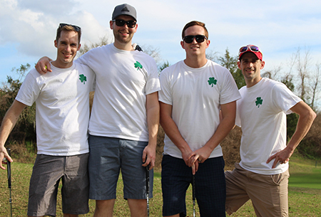 Team of residents participating in the 2018 golf tournament