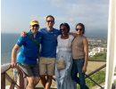 Dr. Algarra and residents in Ecuador