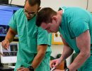 Residents perform intubation during Basic Skills Boot Camp