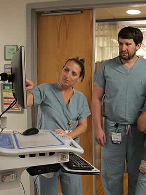 Doctors reviewing a patient's chart