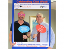 Scott Sumner and Dr. Morey celebrating CAA week