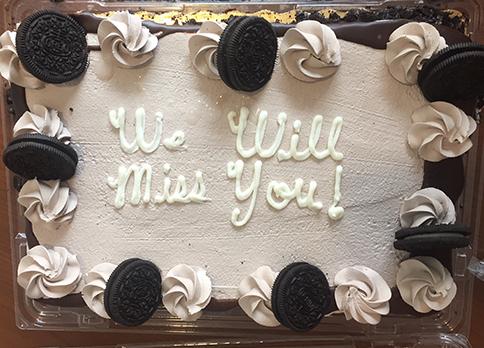 Dorelab farewell cake