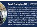 Faculty Spotlight: Derek Covington, MD