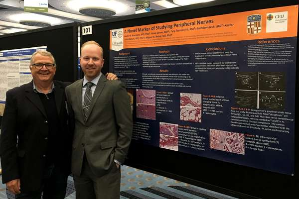 Dr. Boezaart at the AAPM meeting