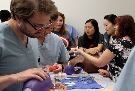 Residents learning airway management