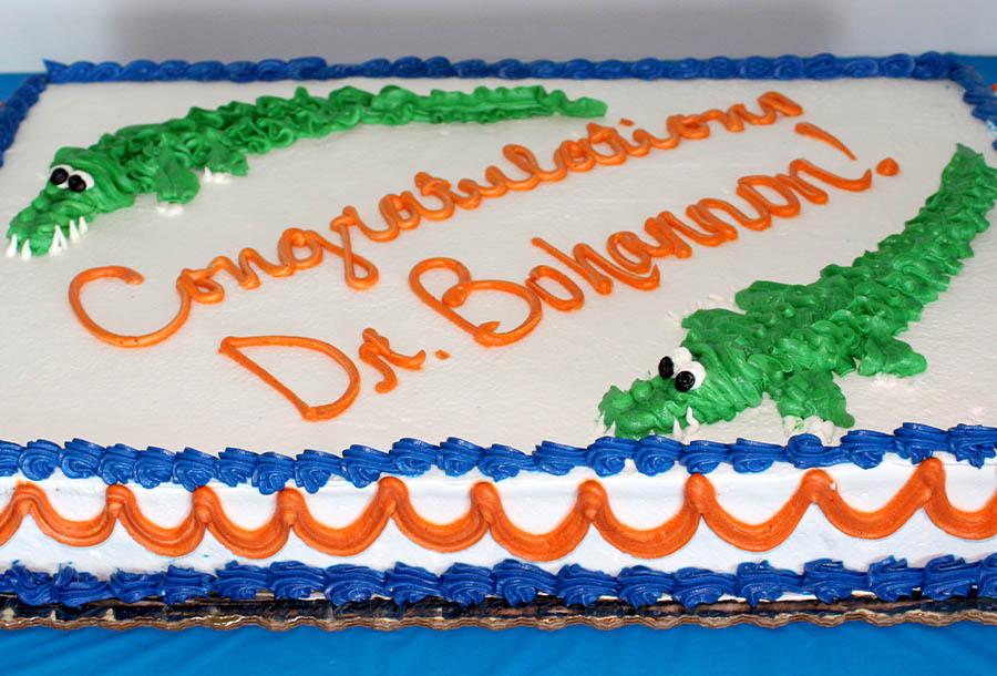 Dr. Bohannon's retirement cake