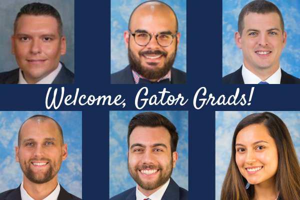headshots of the six U-F med students coming into our program