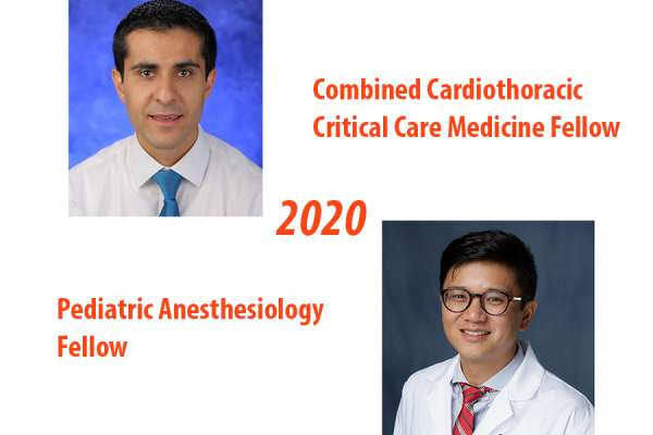 Cardiothoracic critical care medicine fellow and Pediatric anesthesiology fellow