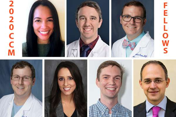Critical care medicine fellows headshots