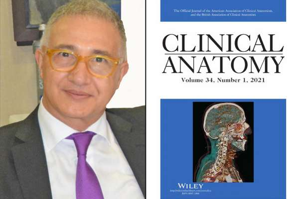 Miguel Reina, MD, PhD, and the cover of Clinical Anatomy