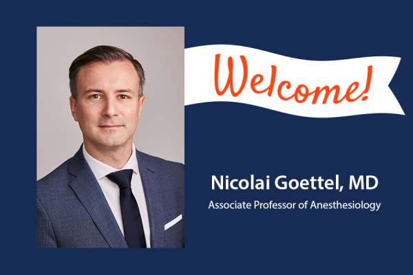 Welcome Nicolai Goettel