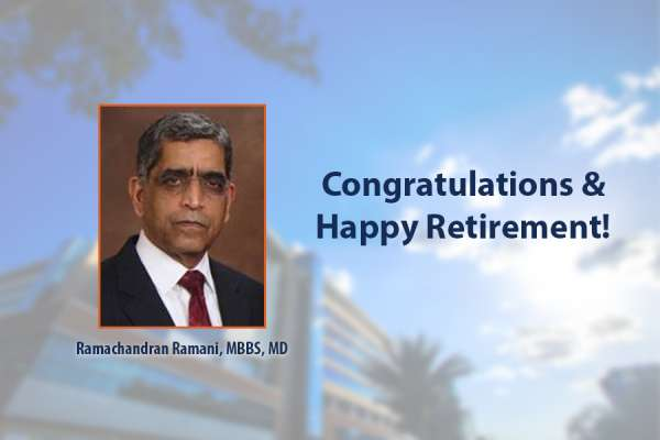 Congratulations and Happy Retirement to Doctor Ramani
