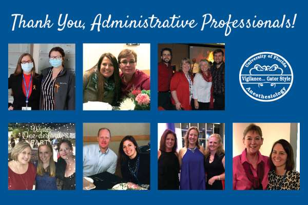 Collage of photos of our administrative professionals