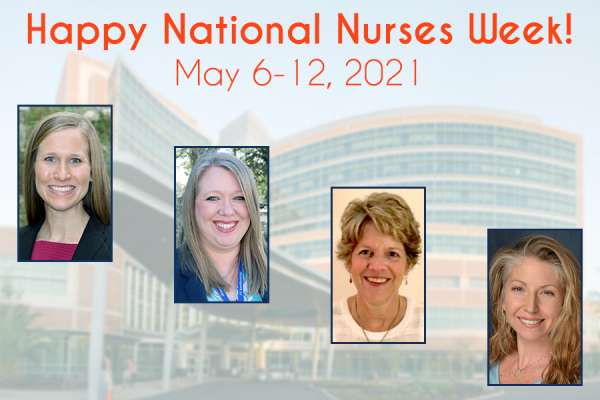 Celebrating our nurses: Stephanie Gore, Amy Gunnett, Mary Jane Michael, and Anna Woods