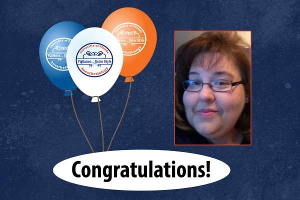 Ricky McHugh headshot and congratulations balloons