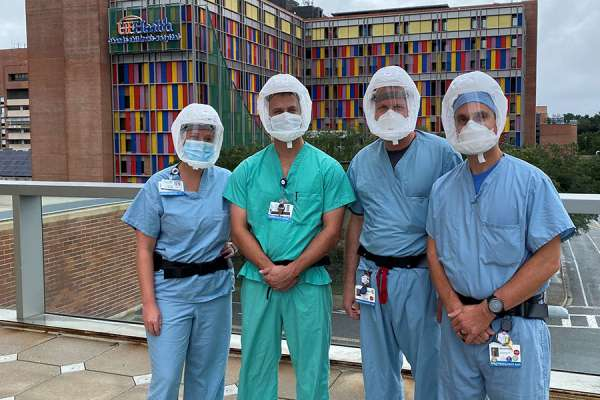 anesthetists on the proning team