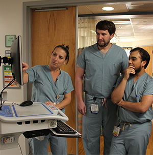 Doctors on critical care rotation