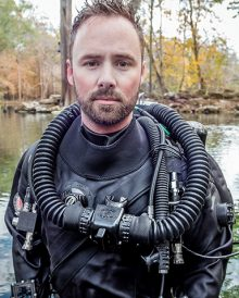 Dr. Covington diving at Ginnie Springs