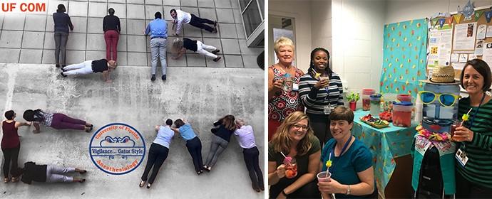 Wellness Program Plank & Drank challenge and Hydration Station mini challenge