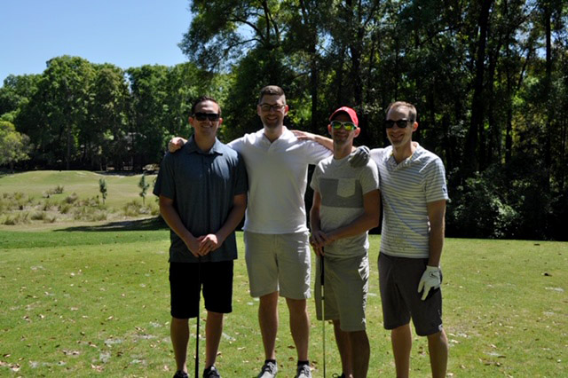 Golfers at Perioperative Golf Tournament