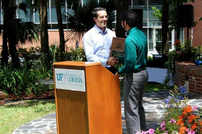 Dr. Giordano receiving the Hippocratic Award