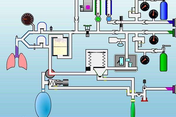 Screenshot of the Virtual Anesthesia Machine