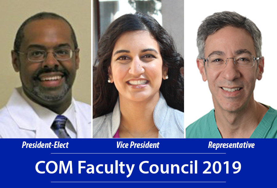 Drs. Robinson, Mehta, and Andoniadis elected to Faculty Council