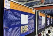 Our research posters at the event