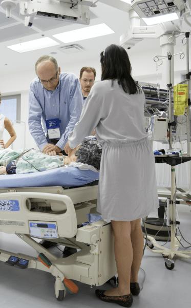Doctor Gravenstein training residents
