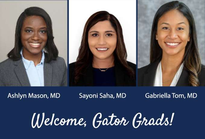Graduates from the U-F College of Medicine joining our residency program
