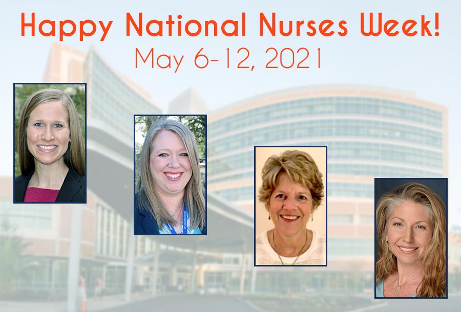 Celebrating our nurses: Stephanie Gore, Amy Gunnett, Mary Jane Michael, and Anna Woods