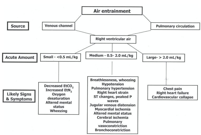 Air embolism chart