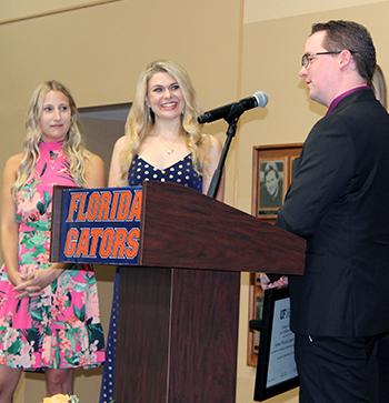 Doctors Looper and Schwartz receiving awards